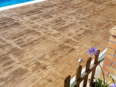 envolvente piscina- Madeira